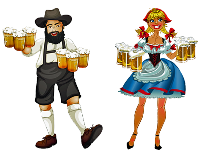 German clothing - man and woman