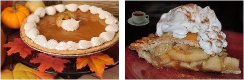 Pumpkin Pie-Gary's Catering-Thanksgiving/Christmas Party Catering and Apple Pie-Gary's Catering
