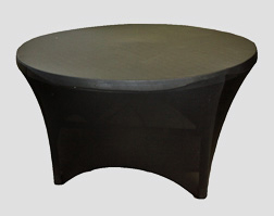 Round Table with Spandex Cover