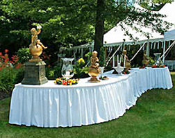 Serpentine Buffet Table